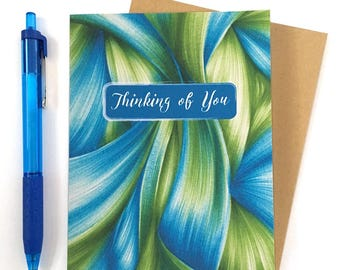 Thinking of You Card - Modern Sympathy Card - Hello Card - Miss you Card  - Everyday Card - Get Well Soon - Just Because Card - Well Wishes