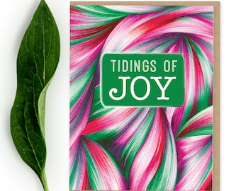 Cyber Week Sale - Christmas Card - Tidings of Joy - Holiday Card Set - Holiday Cards - Modern Christmas -Contemporary Holiday Cards-Abstract