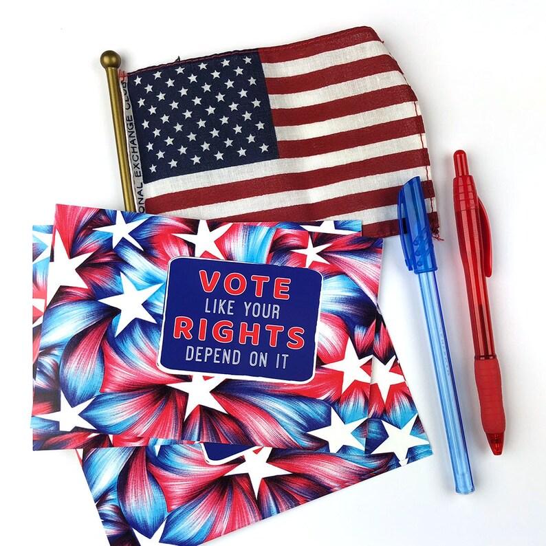 c61cb87485ed Vote Postcards Your Voice Your Vote Election Postcards   Etsy