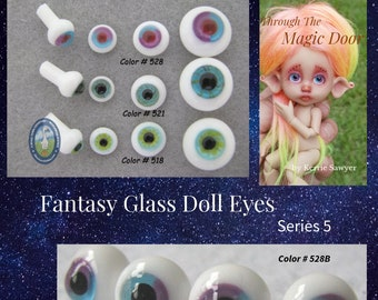 16mm Choose Your Size 6mm 14mm Mysterious Mermaid Glass Eyes On Wire Pin Posts for Felt Doll Making and Other Crafts 8mm 12mm 10mm