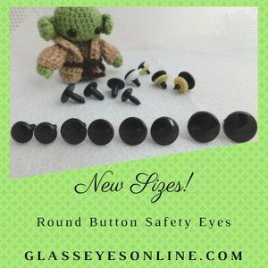 6 paar ronde platte zwarte schijf veiligheid ogen neus | Etsy