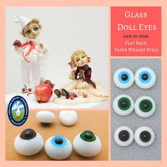 Doll Eyes Size 10MM Color Brown Acrylic Paperweight Style New Old Stock Free Shi