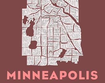 Minneapolis City Neighborhood Print