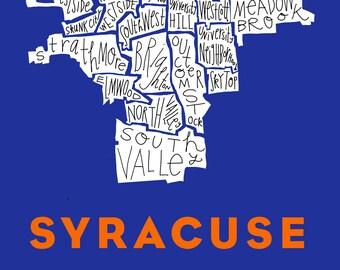 Syracuse City Neighborhood Print