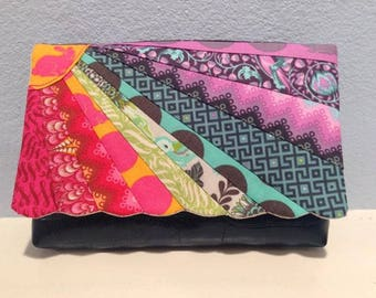 Sunburst Clutch by PennyDog and Mrs H - PDF download pattern - paper pieced purse