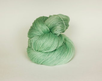 MINT, pink label hand dyed lace weight yarn