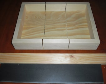 "wooden soap mold loaf/cutter makes 6 bars 4 1/2"" x 4 1/4""  FREE SHIPPING"