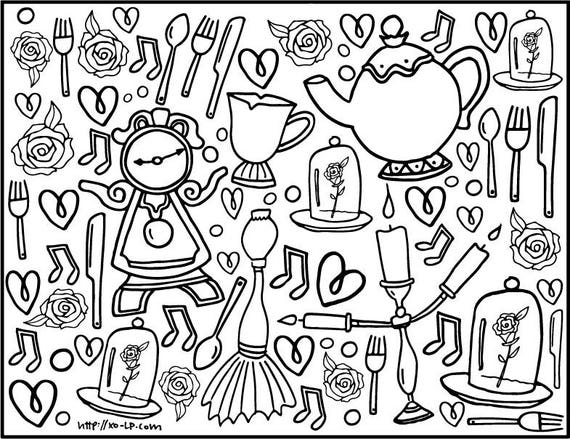 Beauty princess coloring pages for kids, printable free | Disney ... | 439x570