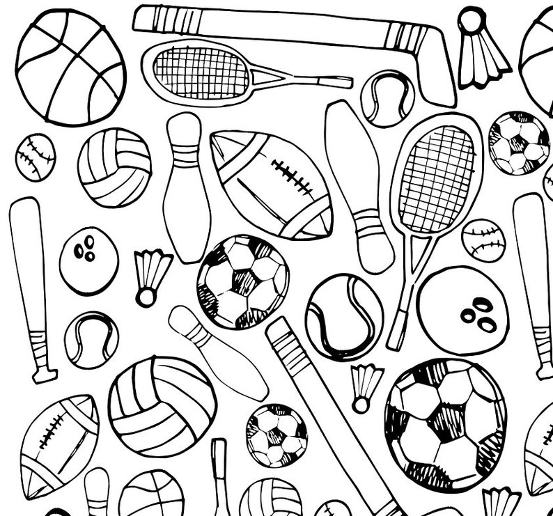 photo about Printable Sports Coloring Pages named Printable Athletics Coloring Webpage
