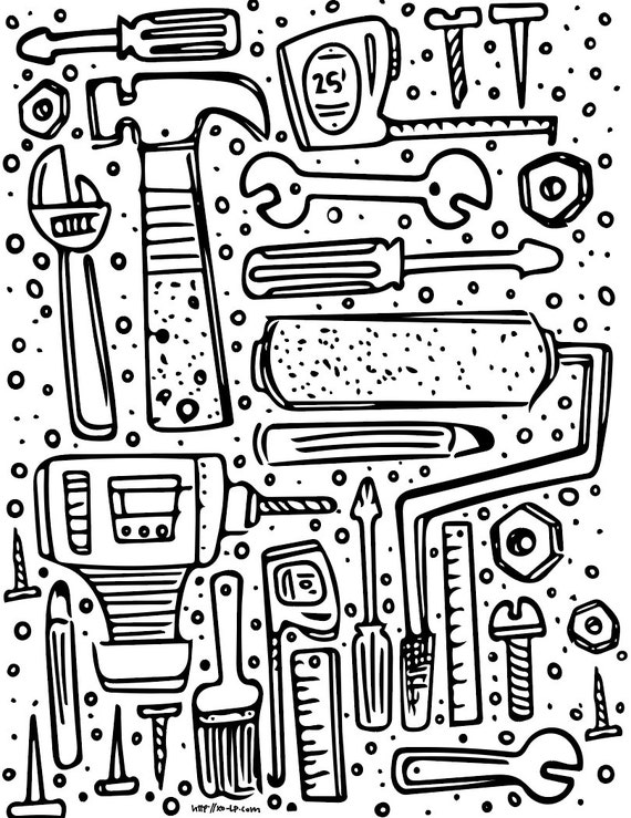 tool coloring pages – streetnotion.info | 739x570