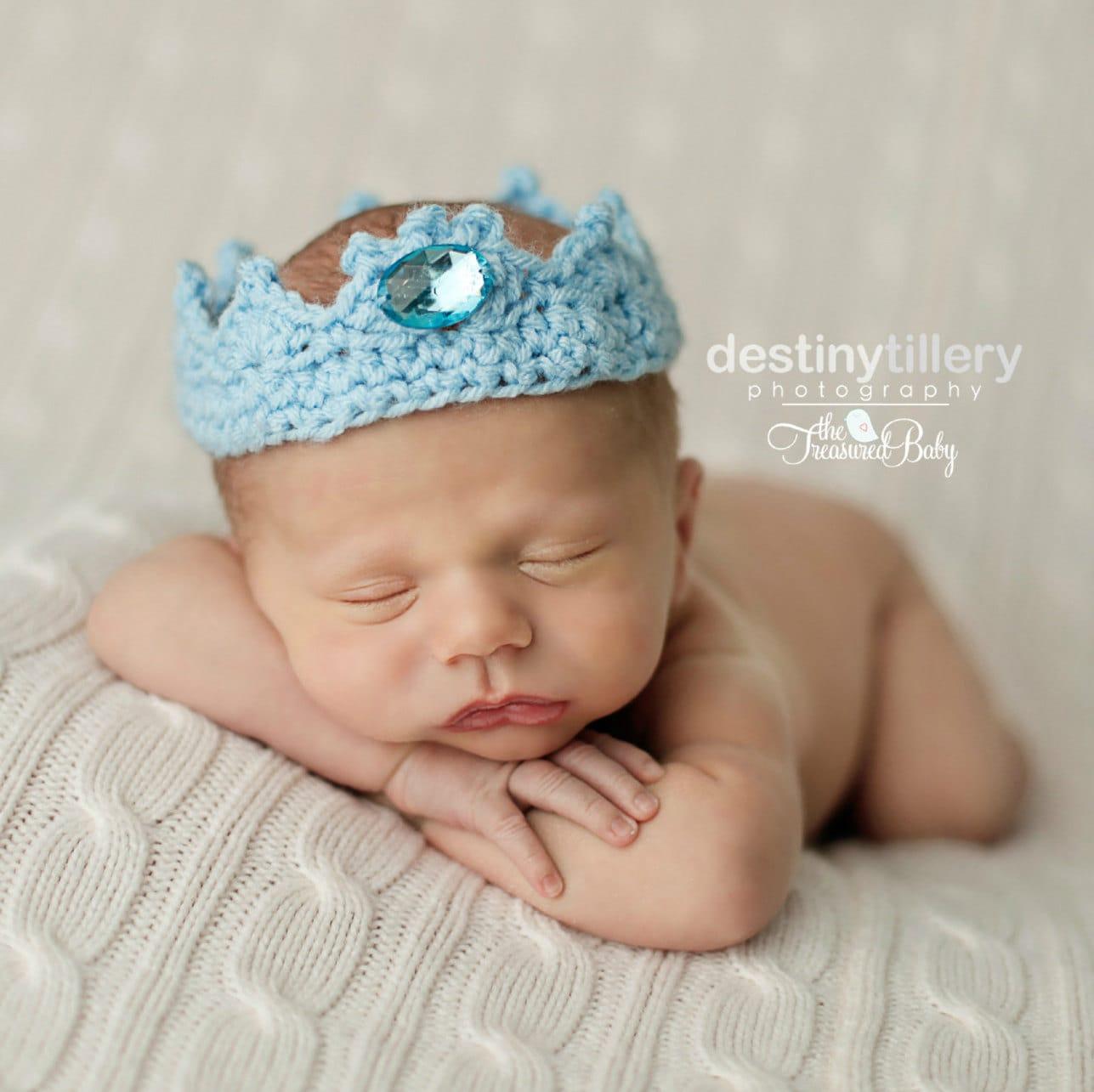 Baby häkeln Krone Neugeborene Prinz Krone ersten Geburtstag