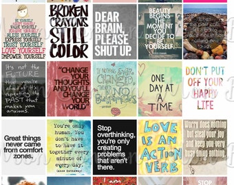 Quote Stickers Etsy