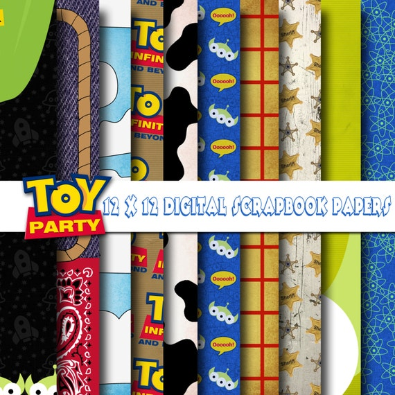 Disney Toy Story Inspired 12x12 Digital Paper Backgrounds For Etsy