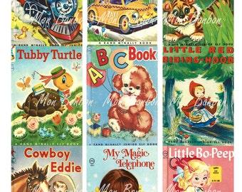 Vintage Children's Storybooks Collage Sheet - DIY Printables - INSTANT DOWNLOAD