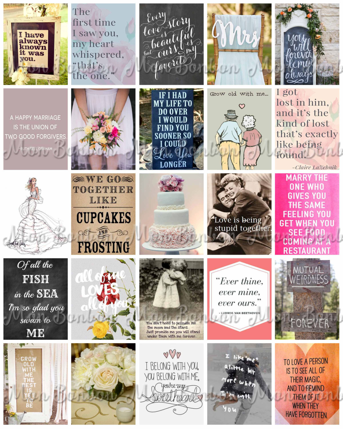 Printable Wedding Quotes For Life Planners Wedding Planner Etsy