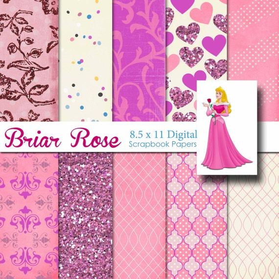 Disney Aurora Sleeping Beauty Inspired 85x11 A4 Digital Paper