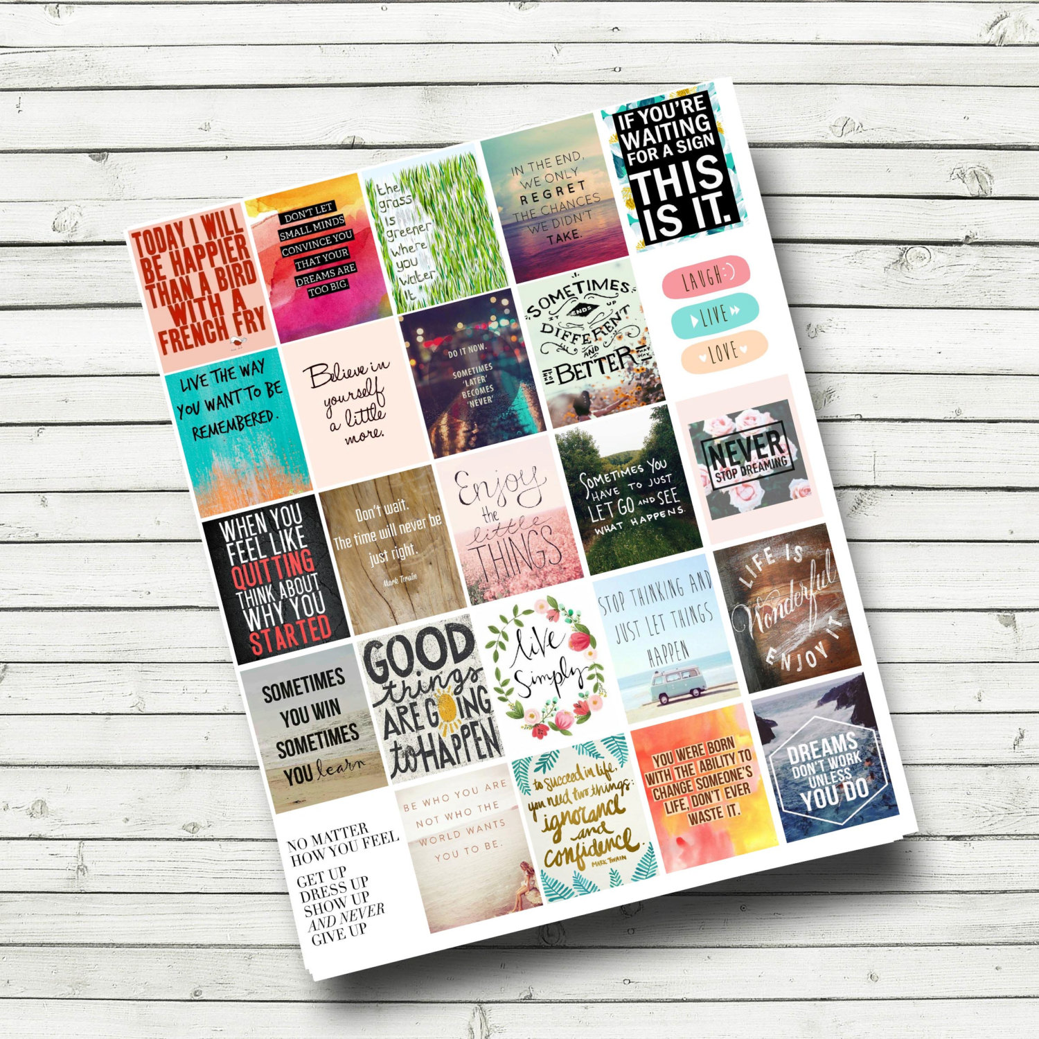 Quote Stickers Planner Printable Motivational Quotes Etsy