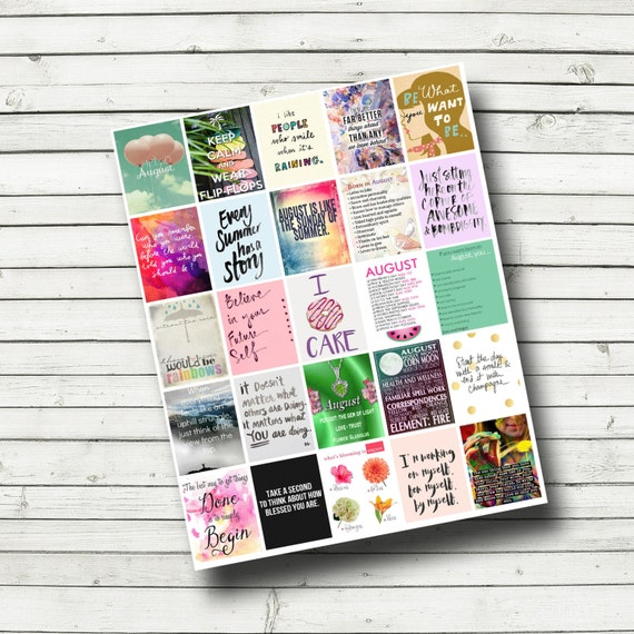 august planner printable print your own planner stickers etsy