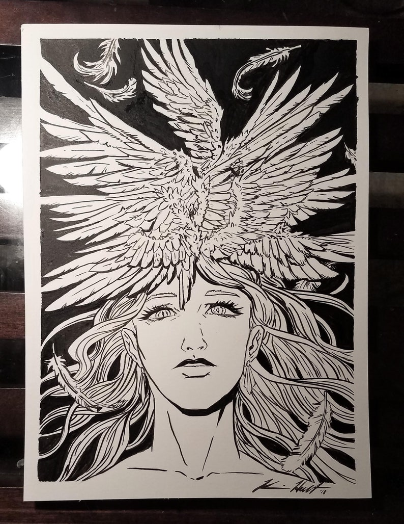 Seraphim Crown - signed ink drawing