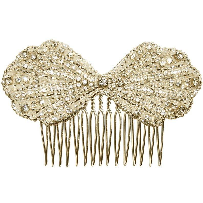 Diamante Bridal Hair Comb Wedding Hair Comb CLARA Handmade Art Deco Crystal Bridal Hair Comb Bow Hair Comb Bridal Hair Accessories