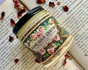 1901 Rose Cold Cream- Victorian Recipe Natural Cleanser Natural Moisturizer Natural Makeup Remover Bulgarian Rose Essential Oil