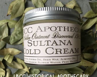 Edwardian Gloves, Handbags, Hair Combs, Wigs 1912 Sultana Cold Cream Hand Cream For Sensitive Skin Natural Body Cream Titanic Hand Cream Titanic Cold Cream Body Butter $9.15 AT vintagedancer.com