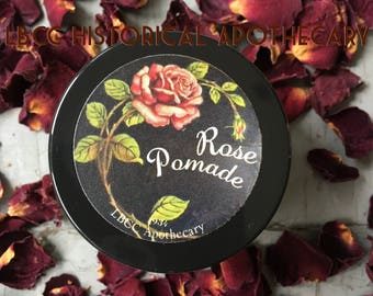 1930's Rose Pomade - Vintage Pomade- Vintage Hairstyle -Vintage Curl Set - Shiny Hair 1934 Soft Hair Leave In Conditioner Soft Curls