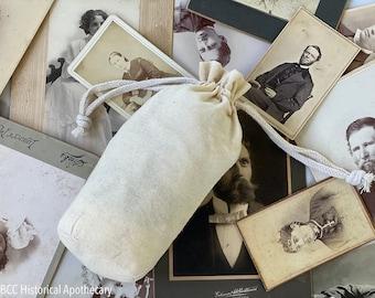Plain Muslin Reticule - Ready for Decoration! Great For Civil War, Victorian, Regency, Natural Muslin Reusable Bag Earth Friendly Makeup Bag