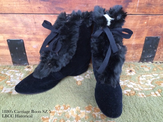Victorian Carriage Boots- Excellent Wearable Condi