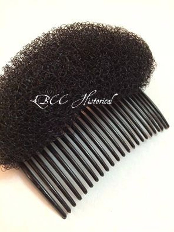 Edwardian Gloves, Handbag, Hair Combs, Wigs Black- Poof Supporter For Help In Getting That Historical Hair Style Vintage Hairstyles $3.00 AT vintagedancer.com
