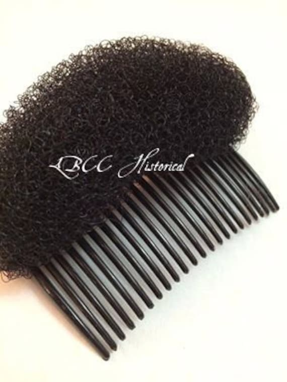 Vintage Hair Accessories: Combs, Headbands, Flowers, Scarf, Wigs Black- Poof Supporter For Help In Getting That Historical Hair Style Vintage Hairstyles $3.00 AT vintagedancer.com