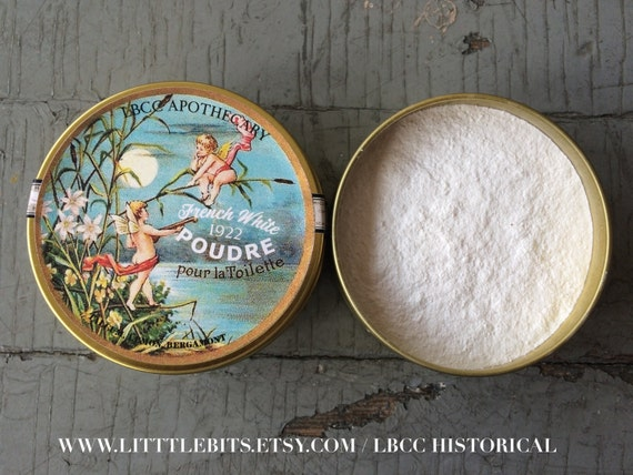 Authentic 1920s Makeup Tutorial French White Face Powder 1922 Setting Powder Oil Control $18.00 AT vintagedancer.com