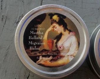 1735-1812 Martha Ballard's Migraine Balm Headache Balm Migraine Balm Headache Relief