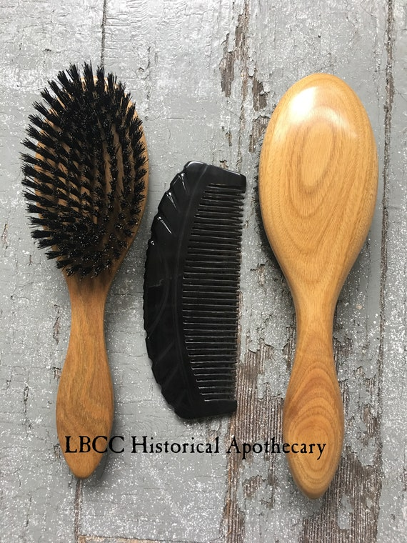 Vintage Hair Accessories: Combs, Headbands, Flowers, Scarf, Wigs Edwardian Hair Brush $68.00 AT vintagedancer.com