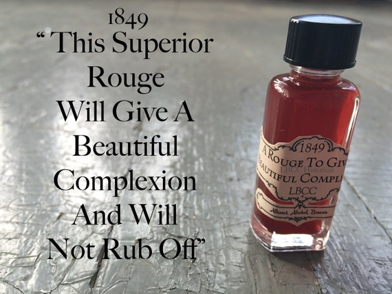 Victorian Makeup Guide & Beauty History 1849 Liquid Rouge A Rouge To Give A Beautiful Complexion 1849 Liquid Rouge $10.00 AT vintagedancer.com