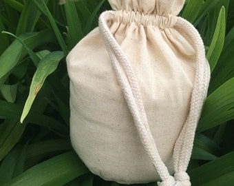 Plain Muslin Reticule - Ready for Decoration! Great For Civil War, Victorian, and so much more!