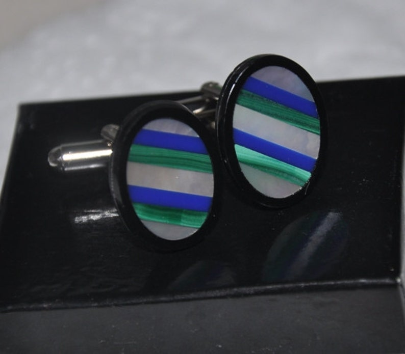Gemstone Cuff links Mother of Pearl Groom Silver Cuff links Men/'s Accessories Wedding gift