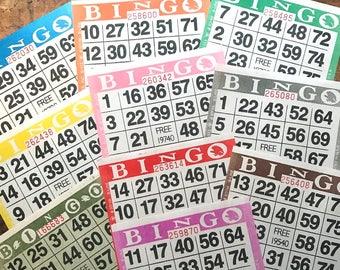 Paper Bingo Cards - Set of 60 - Bingo Sheets, Junk Journal Paper, Junk Journal Ephemera, Planner Supplies, Craft Supplies, Paper Ephemera