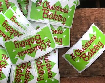 Christmas Labels - Set of 25 - Scrapbooking Labels, Bakery Labels, Junk Journal Paper Ephemera, Craft Supplies, Vintage Inspired Labels