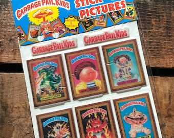 Vintage Puffy Stickers - Garbage Pail Kids Stickers - Vintage Stickers, Craft Supplies, Vintage Supplies, Cute Stickers, Stick-On Pictures