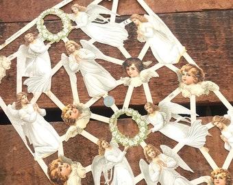 German Scraps - Angels - Die Cuts, Cut Outs, Reproduction, Vintage Style, Vintage Inspired, Paper Ephemera, Angel Ephemera, Old Christmas
