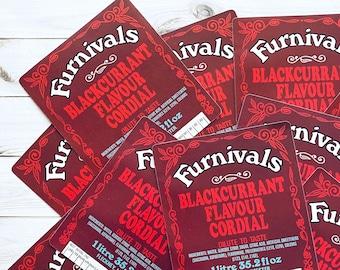 Vintage Drink Labels - Set of 5 - Vintage Labels, Junk Journal NOS Labels, Vintage Paper Ephemera, Old English Soda Labels, Cordial Liquor