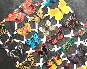 German Scraps - Butterflies - Die Cuts, Cut Outs, Reproduction, Vintage Style, Vintage Inspired, Paper Ephemera, Vintage Butterflies, Insect
