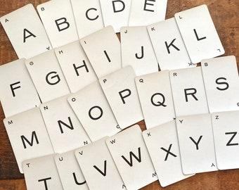 Vintage Mini Probe Letter Cards - Full Alphabet, 26 Cards - 1960s Probe Letter Cards, Alphabet Cards, Junk Journal Cards, Paper Ephemera