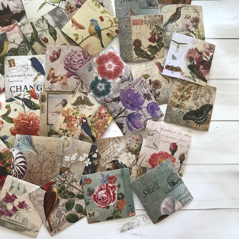 46pcs//box Mint Summer Diary Stickers Paper Lables DIY Gifts Packaging Decor Nz