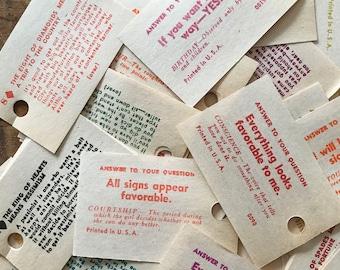 Vintage Fortune Teller Cards - Set of 24 - Swami Cards, Vintage Paper Ephemera, Vintage Tarot Cards, Junk Journal, Scrapbooking, Altered Art