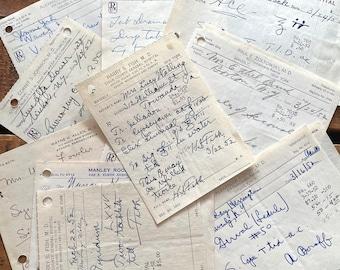 Vintage Handwritten Pharmacy Prescriptions 50s 60s - Set of 20 - Doctor Scripts Drug Store RX, Medical Ephemera, Junk Journal Paper Lot