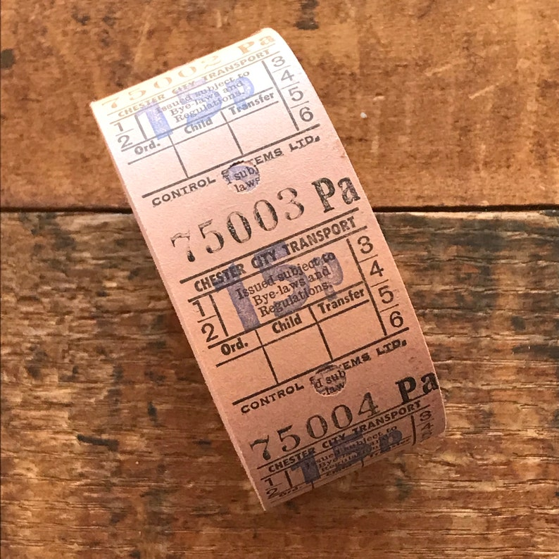 Junk Journal Tickets 1000 Tickets Vintage British Bus Ticket Roll UK Roll Vintage Bus Tickets Vintage Paper Ephemera Vintage Tickets