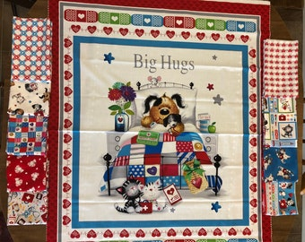 Ava Kate Quilt Kit by the RBD Designers 70 by 70 ~~ Cotton Quilt Top Fabric ~~ Free Shipping