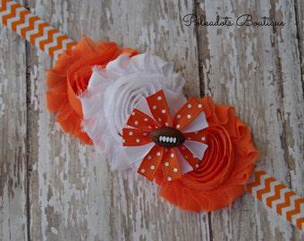 Tennessee Vols Inspired Baby Headband Orange and White Headband Tennessee Inspired Headband Football Headband Vols Headband